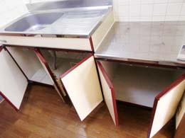 フルール中目黒_キッチン下部の収納(開放状態)