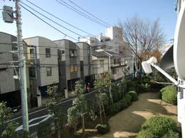 目黒台スカイマンション_バルコニーから見た景色(右側)