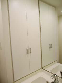 アゼリア学芸大学_洗面台の左側の収納棚