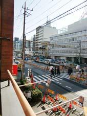 シャンボール五反田_バルコニーから見た景色(左側)