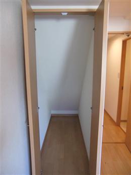 ファインクレスト上目黒_洋室の収納(左側)(開放状態)