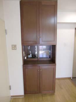 シャンボール五反田_キッチンスペースにある食器棚