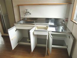 グランドフォルム白金_キッチンの収納(開放状態)